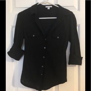 James Perse Tops - James Perse Size 2/Medium Black Cotton Shirt